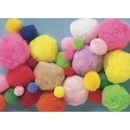 Pom Poms 1-lb. - Assorted Size and Colors