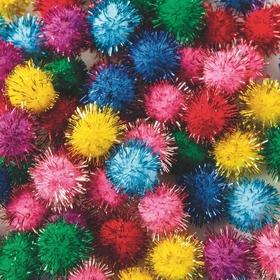 """Pom Poms 1/2"""" - Glitter (pk/80), Price/per pack"""