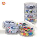 ASST WIGGLY EYES IN CONTAINER 400 PCS