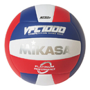 Mikasa; Premium Leather Indoor Volleyball, Red/White/Blue