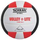 Tachikara; Volley Lite Volleyball, Scarlet/White/Black
