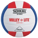 Tachikara; Sv-5W Leather Volleyball, Scarlet/White/Royal