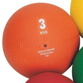 S&S W7336 Rubber Medicine Ball, 6.6-lbs