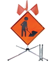 Safety Flag Guardian Sign Stand for 30