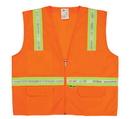 Safety Flag Surveyor's Vest with Contrasting Stripes