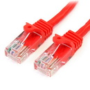 Startech 15 ft Red Snagless Cat5e UTP Patch Cable