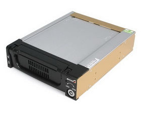 Startech Black Aluminum 5.25in Rugged SATA Hard Drive Mobile Rack Drawer