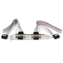 Startech PLATE9M2P16 2 Port 16in DB9 Serial Port Bracket to 10 Pin Header