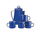 Stansport 11230 8-Cup Percolator and 4 Mug Set