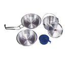 Stansport 250-P Mess Kit - Heavy Duty Aluminum - Polished