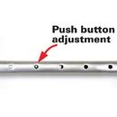 Stansport 254 Tent Pole - Aluminum - 8 Ft - Push Button