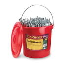 Stansport 812-200 Tent Stakes - 12 In - 200 Piece Bucket - Steel
