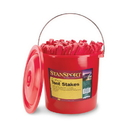 Stansport 816-100 Plastic Tent Stakes - 9 In - 100 Piece Per Bucket