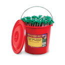 Stansport 818-100 T-Top Nail Stake-Bucket Pack - 100 Min - Steel