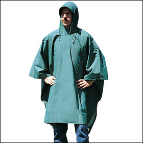 Stansport 960 Pvc-Nylon Poncho - Green - 56 In X 80 In, Price/Piece