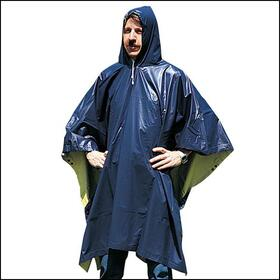 Stansport 968-R Reversible Vinyl Poncho - 52 In X 80 In - Blue-Yellow