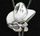 Siskiyou Buckle BT46D Bolo - Cowboy Hat and Spurs (Diamond Cut)