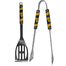 Siskiyou Buckle C2BQ60 W. Virginia Mountaineers 2 pc Steel BBQ Tool Set