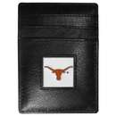 Siskiyou Buckle CCH22 Texas Longhorns Leather Money Clip/Cardholder Packaged in Gift Box