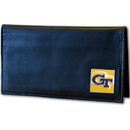 Siskiyou Buckle CDCK44BX Georgia Tech Yellow Jackets Deluxe Leather Checkbook Cover