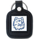 Siskiyou Buckle CLS81 College Leather Key Ring - UCONN Huskies