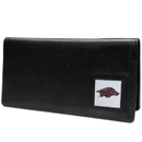 Siskiyou Buckle CNC12BX Arkansas Razorbacks Leather Checkbook Cover