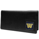 Siskiyou Buckle CNC49BX Washington Huskies Leather Checkbook Cover