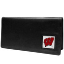 Siskiyou Buckle CNC51BX Wisconsin Badgers Leather Checkbook Cover