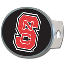 Siskiyou Buckle CTHO79 N. Carolina St. Wolfpack Oval Metal Hitch Cover Class II and III