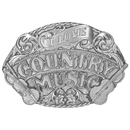 Siskiyou Buckle E80 I Love Country Music Antiqued Belt Buckle