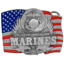 Siskiyou Buckle E92E Marines Enameled Belt Buckle