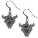 Siskiyou Buckle ER001 Dangle Earrings - Buffalo Skull & Stone
