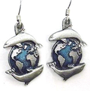 Siskiyou Buckle ER009 Dangle Earrings - Dolphins & Earth