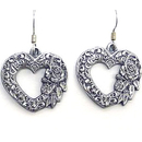 Siskiyou Buckle ER020 Dangle Earrings - Scroll Heart