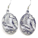 Siskiyou Buckle ER026 Dangle Earrings - Flying Eagle