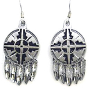 Siskiyou Buckle ER033 Dangle Earrings - Shield & Feathers