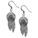 Siskiyou Buckle ER040 Dangle Earrings - Concho & Feathers