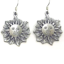 Siskiyou Buckle ER044 Dangle Earrings - Sun Face