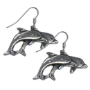 Siskiyou Buckle ER090 Dangle Earrings - Two Dolphins