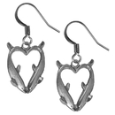 Siskiyou Buckle ER204 Dangle Earrings - Dolphin Heart