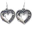 Siskiyou Buckle ER240 Dangle Earrings - Dolphin Heart