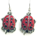 Siskiyou Buckle ER241 Dangle Earrings - Lady Bug