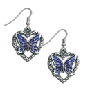 Siskiyou Buckle ER242 Dangle Earrings - Butterfly Heart