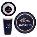 Siskiyou Buckle FDSET180 Baltimore Ravens 12 pc Melamine Dish Set