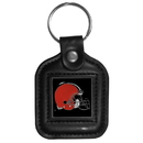 Siskiyou Buckle FLK026 Cleveland Browns Square Leather Key Chain