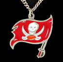 Siskiyou Buckle FN030 NFL Logo Necklace - Tampa Bay Buccaneers
