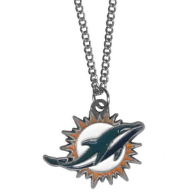Siskiyou FN060 NFL Logo Necklace - Miami Dolphins