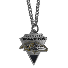 Siskiyou FPC180 NFL Chain Necklace & Pewter Pendant - Baltimore Ravens