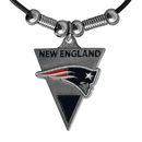 Siskiyou Buckle FPL120 New England Patriots Classic Cord Necklace