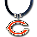 Siskiyou Buckle FPR005 Chicago Bears Rubber Cord Necklace